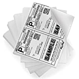 PackingSupply Shipping Labels with Self Adhesive, for Laser & Inkjet Printers, 8.5 x 5.5 Inches, White, Pack of 1000 Labels