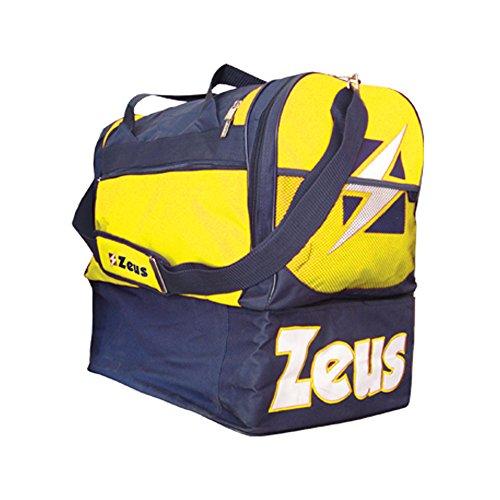 Zeus Herren Sporttasche Schultergurt Umhängetasche BORSA GAMMMA 52X52X36 cm (BLAU-GELB)