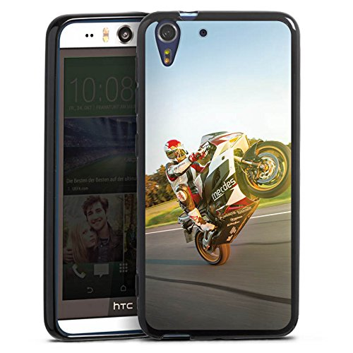 Silikon Hülle kompatibel mit HTC Desire Eye Hülle schwarz Handyhülle Motorrad YouTube