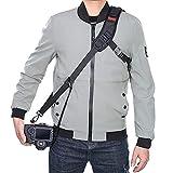 Cinturino per fotocamera Tracolla regolabile e comoda da collo con cordino di sicurezza e panno per la pulizia dell'obiettivo per fotocamera DSLR SLR