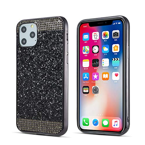 ZCDAYE Case for iPhone 11 Pro Max,Bling Glitter[Crystal Rhinestone Diamond][Electroplating Edge] Shockproof Protective Soft TPU Back Case for iPhone 11 Pro Max (6.5 inch)- Black