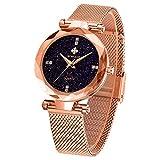 WWOOR Relojes para Mujer Reloj Pulsera de Dama Reloj Resistente al agua Mujer Color Rosedo ORO Morado