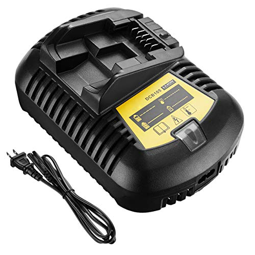 Powerextra Replace DCB107 12V/20V MAX Battery Charger Compatible with Dewalt DCB101 DCB112 DCB105 DCB115 DCB203 DCB205 Compact Drill Driver Battery Packs