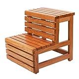 Banc de travail for enfants en bois Échelle de ménage Échelle à trois marches en bois massif...
