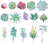 15pcs piante grasse artificiali piante artificiali realistiche piante grasse finte per decorazioni da tavola - piante finte composizioni per interni e decorazioni per piante finte non in vaso