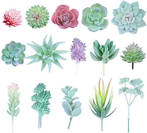 15 piezas de suculentas artificiales Plantas y flores artificiales...