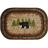 Cozy Cabin CC5282 Birch Bear Non Skid Rug 30'x46' Brown