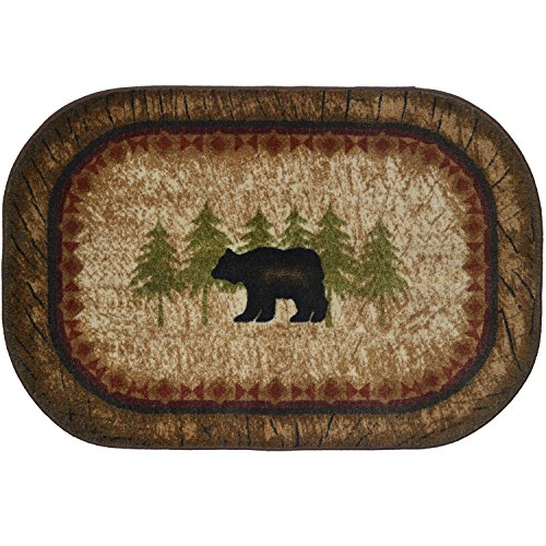 "Cozy Cabin CC5282 Birch Bear Non Skid Rug 30""x46"" Brown"