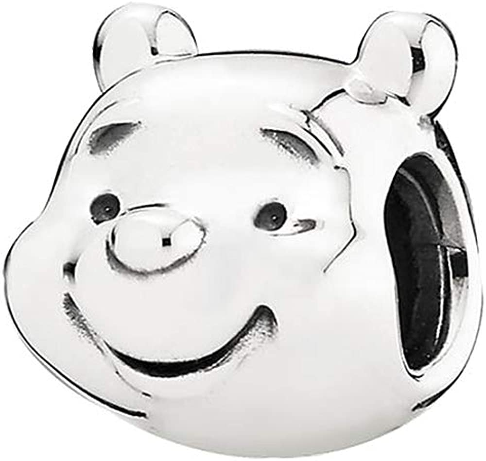 Manufacturer OFFicial shop Winnie The Pooh Charlotte Mall Portrait Charm Authentic Sterling Ani 925 Silver