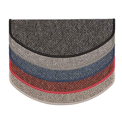 Stufenmatte beige | Qualitätsprodukt aus Deutschland | GUT Siegel | kombinierbar mit Läufer | 65x23,5 cm | halbrund | einzelne Matte