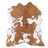 Rodeo 150 Alfombra de Piel de Vaca Crema Caramelo Hairy