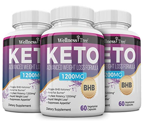 Keto Diet Pills - Max Strength 1200mg Utilize Fat for Energy with Ketosis - Boost Energy & Focus, Manage Cravings, Support Metabolism - Keto BHB Supplement for Women and Men (3 Pack)
