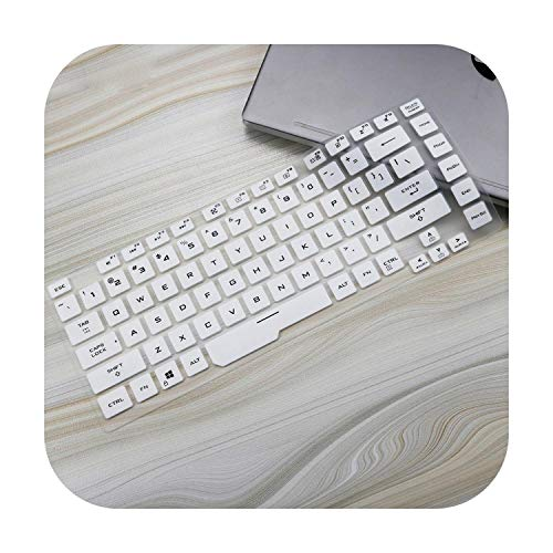 TOIT - Funda de protección para teclado de silicona para ASUS Rog Strix G G531 15 G531G G531Gu G531Gd G531Gt G531Gw 15 6', color blanco