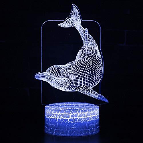 Unterwassertier LED Nachtlicht Farbe ändern Delphin Form LED Tischlampe LED Nachtlicht Schlafzimmer Dekoration Geschenk