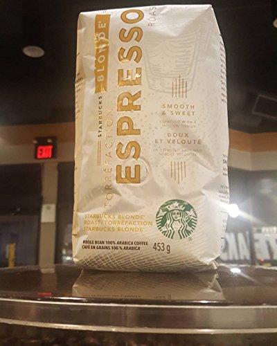 Starbucks Blonde Espresso Light Roast 1lb Whole Bean Coffee