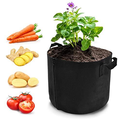 プランター 5ガロン フェルト 不織布ポット 野菜栽培 根域 うえき鉢 ガーデン 布鉢 園芸 家庭菜園 室内栽培用