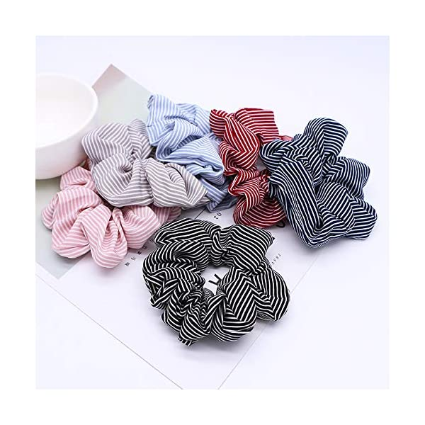16 Pack Leopard Hair Scrunchies Scrunchies Elastic Rubber Band Hair Rope Bobbles Hair Ties 8