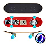 Business strategy concept with target horse chess money and clock Skateboard Colorful Flashing Wheels Extreme Sports&Outdoors 31''Cruiser Complete Standard Longboard Beginners Kids Cool Boys Teen