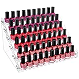 Gospire 6 Tier Clear Acrylic Nail Polish Ink Rack Sunglasses Organizer Eyeglasses Display ...