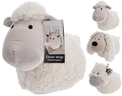 E.H. Animal Vaca Oveja Perro Diseño Suave Crema Tela Tope para Puerta Tope para Puerta Tapón Peso