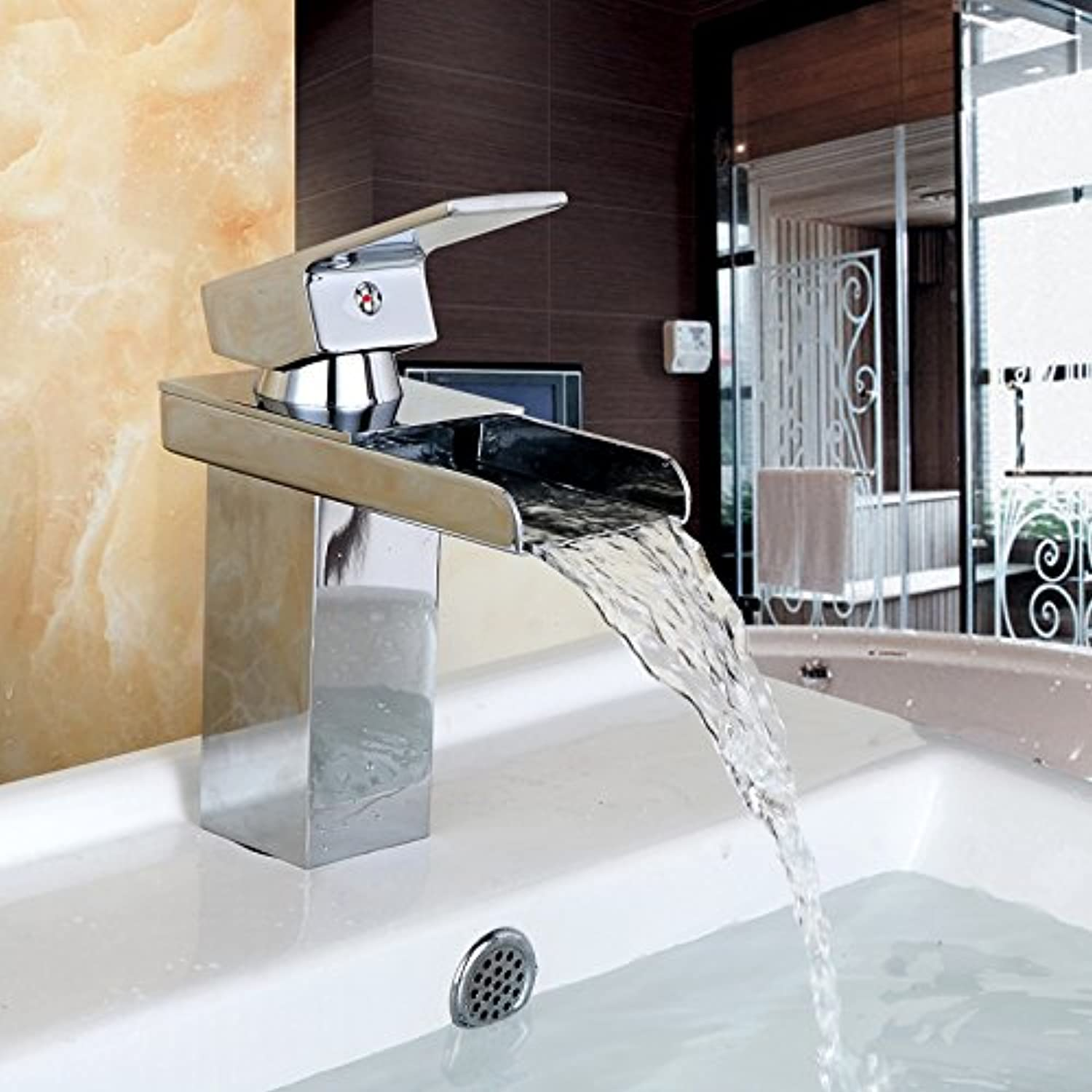 GQLB Kitchen sink mixer tap waterfall kitchen sink basin mixer tap waterfall kitchen sink basin mixer tap hot and cold sink mixer cloakroom basin sink mixer tap basin mixer tap bathroom faucet