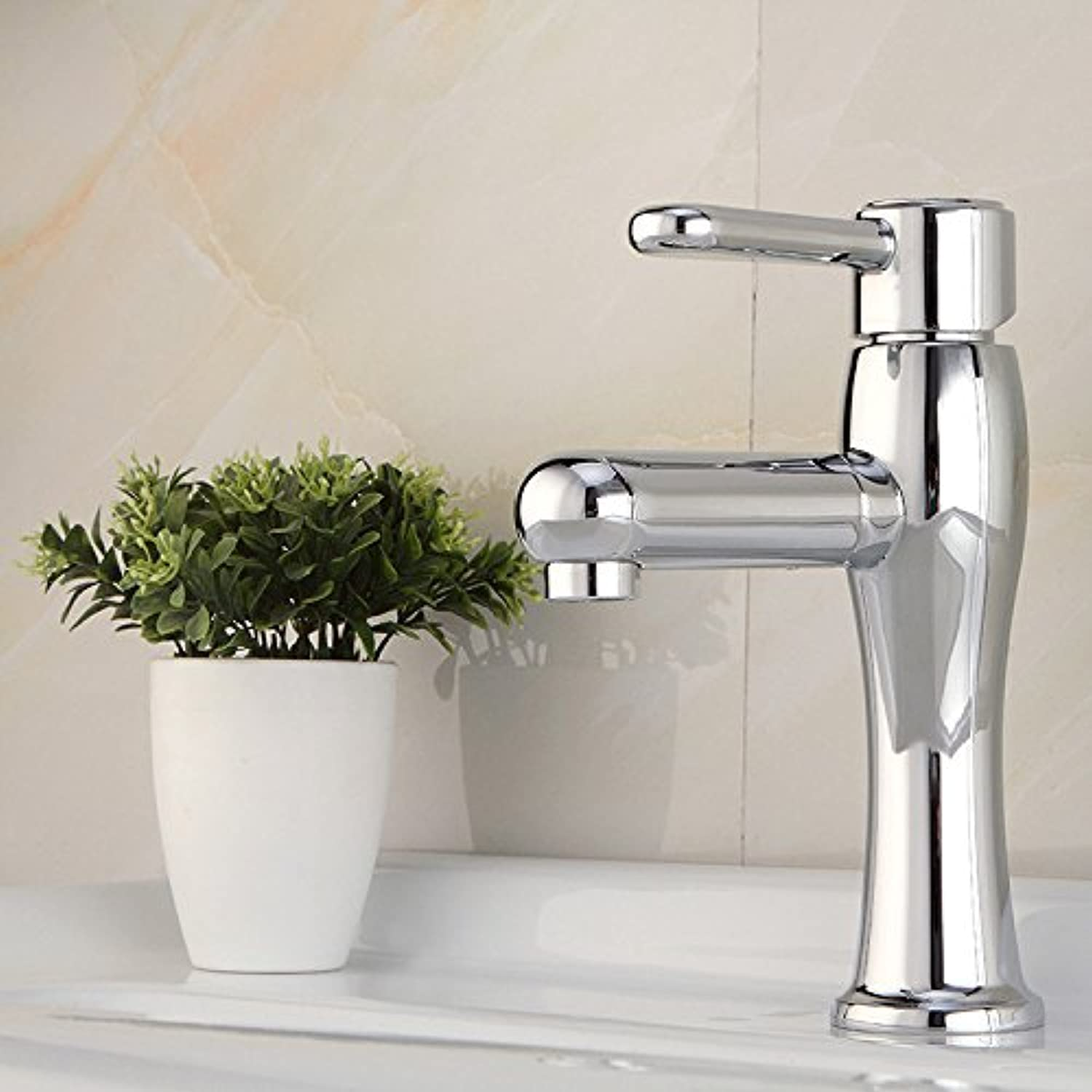 KHSKX- Antique Hot And Cold Shower Full Copper Single Hole Washbasin redation Hot And Cold Shower Click The Type Water High quality faucets