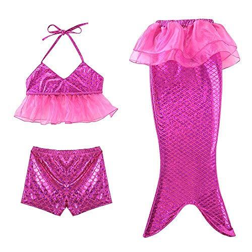HOSD dreiteiligen Badeanzug Mädchen Bikini Boxer Meerjungfrau dreiteiligen Badeanzug