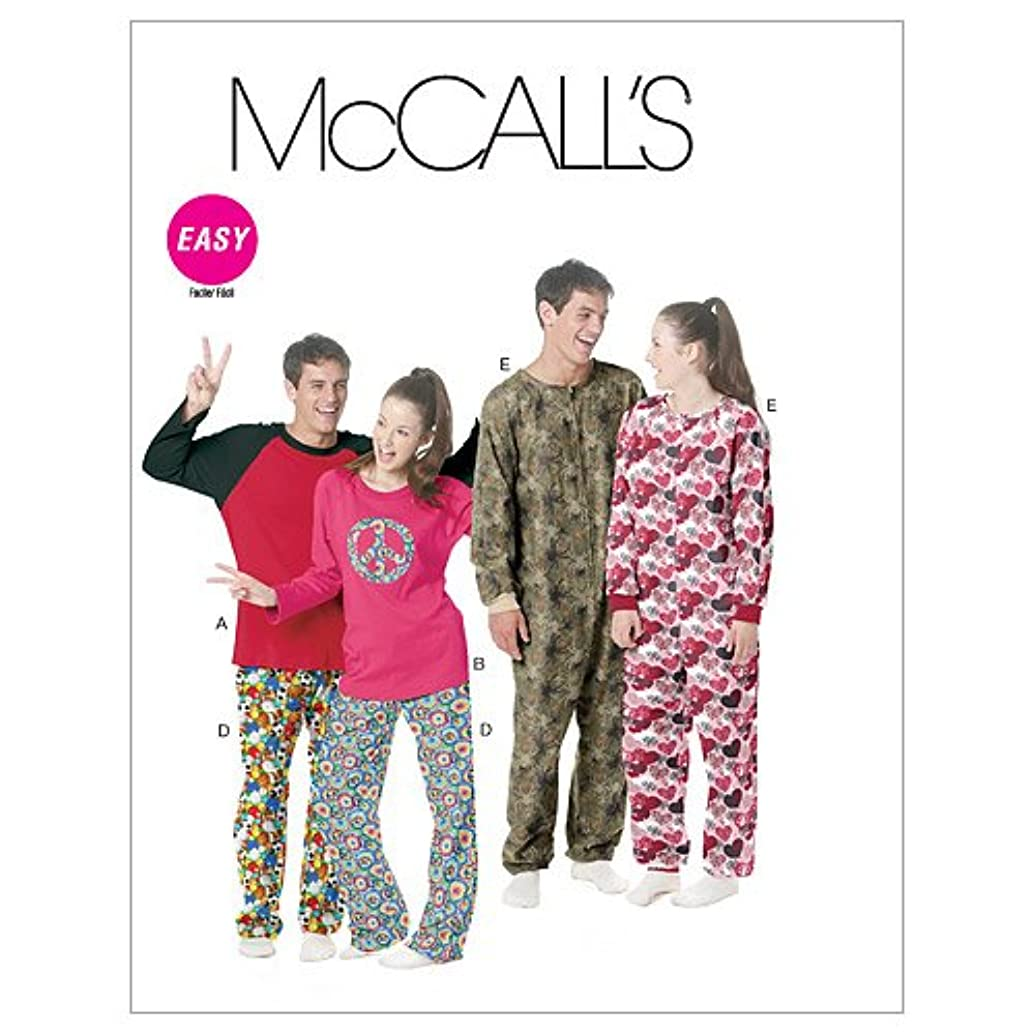 McCall's Patterns M6251 Misses'/Men's/Teen Boys' Tops, Pants and Jumpsuit, Size Y (XSM-SML-MED)