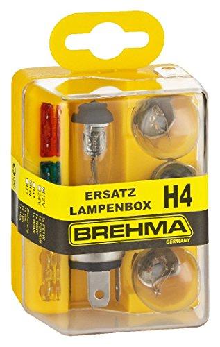 BREHMA H4 Ersatzlampenkasten Ersatzlampenbox Ersatzlampenset 12V 8teilig