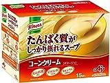 ★【タイムセール】クノール たんぱく質がしっかり摂れるスープ コーンクリーム 15袋入が1,282円!