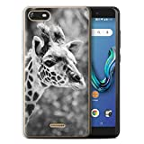 Stuff4 Phone Case for Wiko Tommy 3 Mono Zoo Animals Giraffe