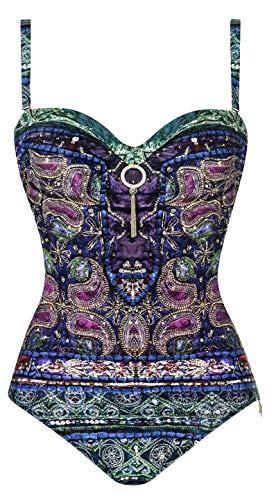 OPERA Damen Badeanzug Maharani Deluxe (Violett, 44C)