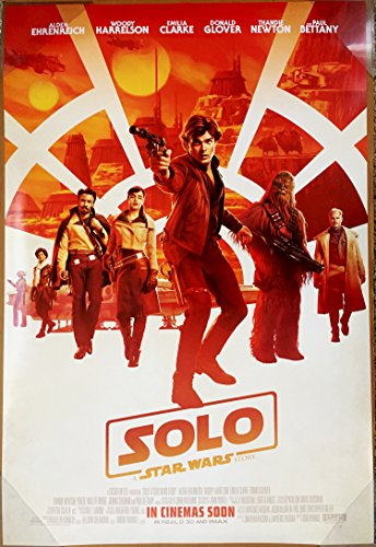 SOLO A STAR WARS STORY MOVIE POSTER 2 Sided ORIGINAL INTL FINAL 27x40 RON HOWARD