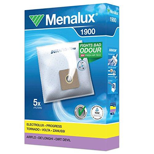 Menalux 1900 - Pack de 5 bolsas y 2 filtros para aspiradoras