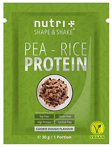 Sojafreies PROTEINPULVER Probe - Pea Rice Cookie Dough 30g - Veganes Eiweißpulver sojafrei - Protein ohne Soja, Gluten & Lactose - Eiweiß Pulver Vegan - In Deutschland hergestellt