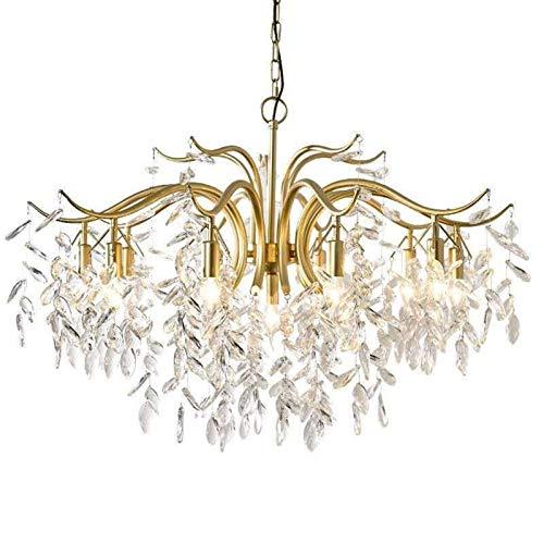 no-branded Luz Pendiente La lámpara de araña de Cristal de Habitación Sala lámpara de Cristal lámpara de Cristal de Lujo lámpara ZHQHYQHHX (Color : White Light, Size : 3 Arms)