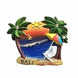 Bali Island Indonésie 3D Aimant de réfrigérateur Souvenir de voyage Collection cadeau Décoration de maison Cuisine Sticker magnétique Bali Island Indonésie Aimant réfrigérateur