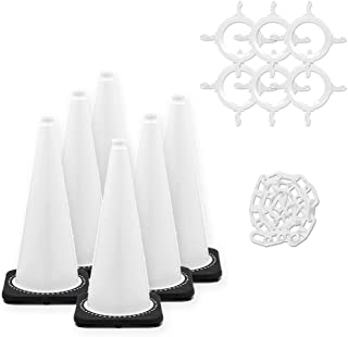 Mr. Chain Traffic Cone and Chain Kit, White, 28-Inch Height (93201-6)