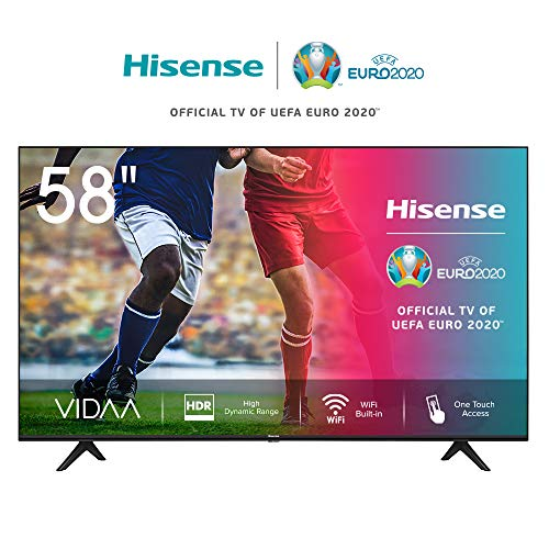 Hisense 58AE7000F (Modelo 2020) - Smart TV 58' 4K Ultra HD, HDR, Ultra Dimming, Bluetooth, Alexa Built-in, Botones Acceso Rápido, VIDAA U 3.0 con IA, Escalado UHD