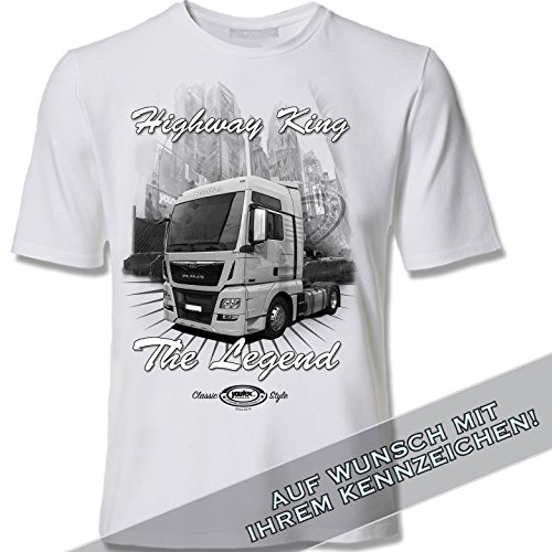 youtex Man Truck Black&White T-Shirt (XL)