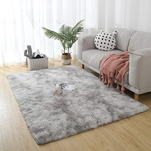 AMZERO Alfombra de Salón Alfombras en IKEA Alfombra Cocina Dormitorio Cabecera Alfombras para Sala de Estar, Dormitorio, sofá, Suelo, Gris Claro 120x200cm
