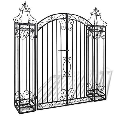 """Tbest Ornamental Garden Arches Steel Arch Arbor Garden Gate for Garden Decoration,Steel Gate Set Driveway Security Gate and Pedestrian Gate,4'x8 x4' 5"""""""