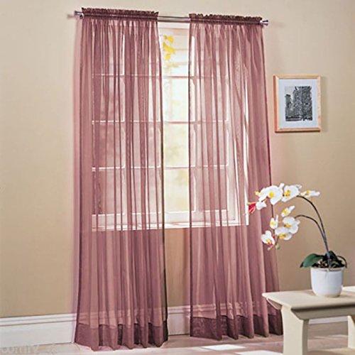 kexinda Neue Solid Color Voile bloße Vorhang-Panel-Fenster Gardinen 100 * 200cm