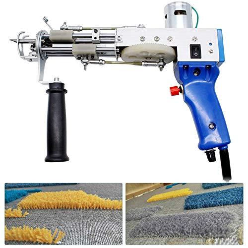 TOPQSC Pistola de Eléctrica Alfombra Tufting 7-21 mm,Máquina de Tejer de Pila Cortada, Herramientas de Bricolaje para el Hogar, para Máquina de Flocado de alta Velocidad (Cut Pile)