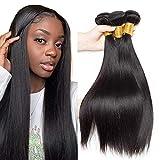 FalaFala Brazilian Virgin Human Hair Bundles 100% Unprocessed Straight Hair Weft 16 18 20 Inch Hair Weave 3 Bundles Natural Black Color