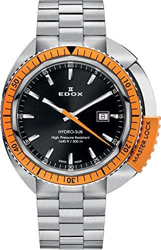 EDOX 53200 3OM NIN - Orologio da polso da uomo, cinturino in acciaio inox