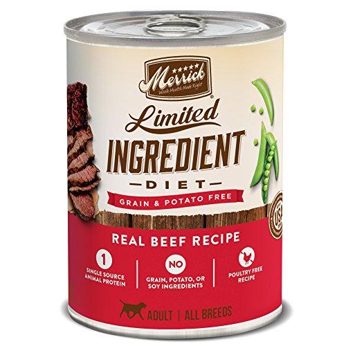 Merrick Limited Ingredient Diet Grain Free Wet Dog Food Real Beef Recipe - (12) 12.7 oz Cans