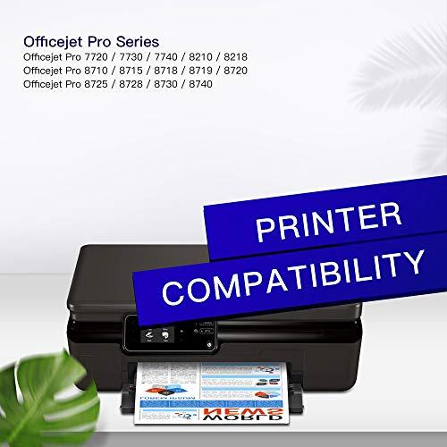 GPC Image 953XL Remanufacturado Cartuchos de Tinta para HP 953 XL para HP Officejet Pro 8710 8715 8718 8719 8720 8725 8730 8740 7740 8218 (Negro/Cian/Magenta/Amarillo, 4 Pack)