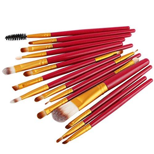 Ouneed® 15pcs Lot de Pinceaux de Maquillage SOLDE (Or)