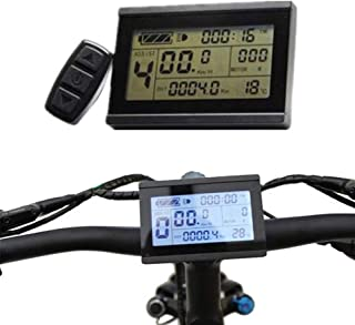 XQxiqi689sy 24/36/48V Bicicleta eléctrica eBike LCD Display Meter Panel Control Remoto Odómetro
